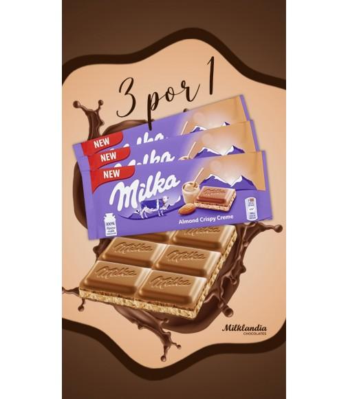 Promoção 3 Milka Almond Crispy Creme por: