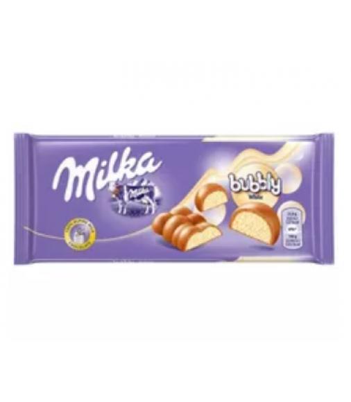 Milka Bubbly ao leite white