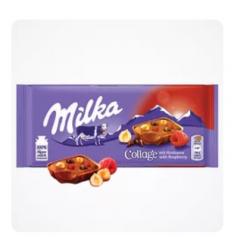 Milka Collage Raspberry